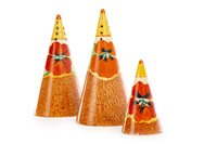 Lot 1228-A LOT OF THREE CLARICE CLIFF BIZARRE CONICAL CASTERS