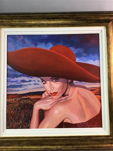 Lot 6-RED HAT, AN OIL BY RALPH SHEPHARD