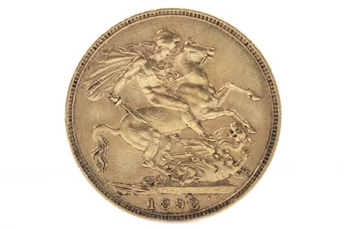 Lot 515-A GOLD SOVEREIGN, 1893