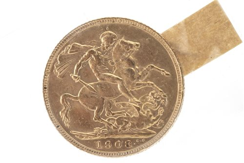 Lot 518-A GOLD SOVEREIGN, 1908