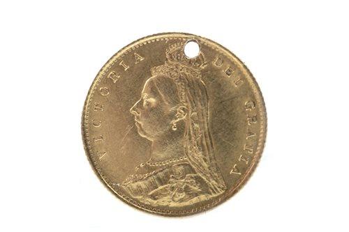 Lot 519-A GOLD HALF SOVEREIGN, 1887