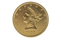 Lot 522-A GOLD USA TEN DOLLAR COIN, 1907
