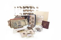 Lot 523-A COLLECTION OF VARIOUS SILVER AND OTHER COINS