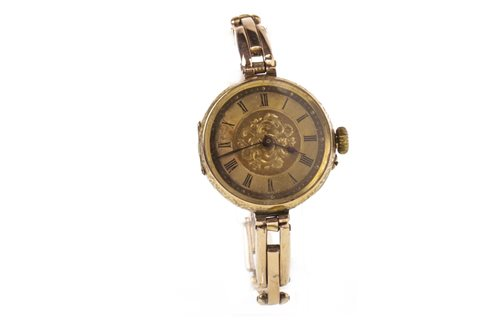 Lot 764 - A CONVERTED GOLD FOB WATCH