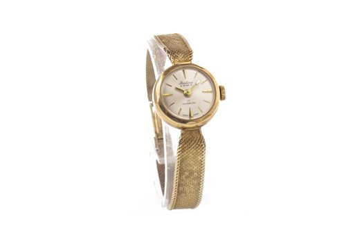 Lot 767 - LADY'S BENTIMA STAR NINE CARAT GOLD WRIST WATCH