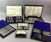 Lot 28-A LOT OF VARIOUS PLATED CUTLERY