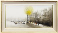 Lot 581-THE THAMES AT WESTMINSTER, LONDON, AN OIL BY ANTHONY ROBERT KLITZ