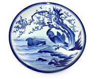Lot 1181-A JAPANESE BLUE AND WHITE CHARGER