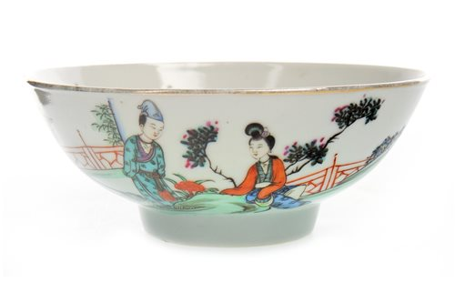 Lot 1195-AN EARLY REPUBLIC CHINESE POLYCHROME BOWL