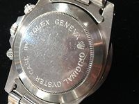 Lot 754-RARE: A GENTLEMAN'S TUDOR OYSTERDATE 'MONTE CARLO HOME PLATE' WRIST WATCH