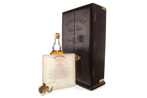 Lot 34-AN INCREDIBLY RARE BOWMORE 1955 AGED 40 YEARS