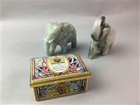 Lot 35-A COLLECTION OF CERAMICS, PAPERWEIGHTS AND CANDLESTICKS