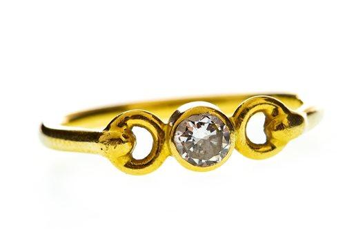 Lot 65-A DIAMOND SINGLE STONE RING