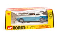 Lot 1724-A CORGI MODEL OF A ROLLS ROYCE HJ MULLINER PARK WARD SILVER SHADOW CAR