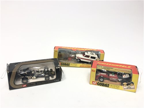 Lot 1723-A CORGI MODEL OF A POLICE 'VIGILANT' RANGE ROVER AND TWO OTHERS