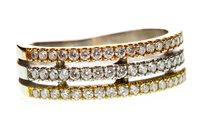 Lot 48-A TRICOLOUR DIAMOND RING