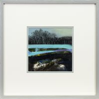 Lot 696 - TURQUOISE RIVER, A MIXED MEDIA BY MAY BYRNE
