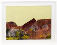 Lot 698-ULLAPOOL MOOR, A MIXED MEDIA BY CHRISTOPHER BYRNE