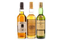 Lot 303-GLENMORANGIE 10 YEARS OLD, ABERLOUR 10 YEARS OLD AND GLENLIVET 12 YEARS OLD