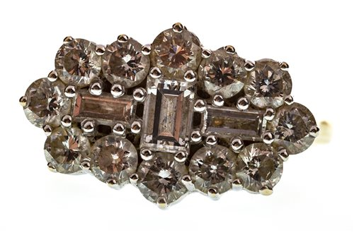 Lot 27-A DIAMOND CLUSTER RING