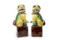 Lot 982-A PAIR OF CHINESE FOE DOGS