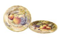 Lot 1242 - A LOT OF TWO ROYAL WORCESTER PLATES