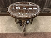Lot 942-AN EARLY 20TH CENTURY INDIAN TABLE