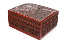Lot 948-A CHINESE CINNABAR LACQUER BOX