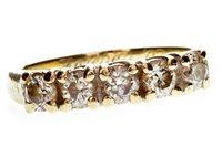 Lot 42-A DIAMOND FIVE STONE RING