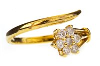 Lot 48-A DIAMOND FLORAL CLUSTER RING
