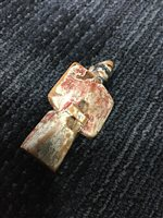 Lot 922-A JAPANESE PAINTED WOOD NETSUKE OF A MAN