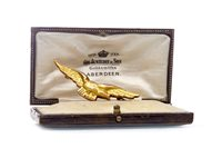 Lot 43-A NINE CARAT GOLD RAF SWEETHEART BROOCH