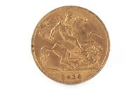 Lot 504-A GOLD HALF SOVEREIGN, 1914