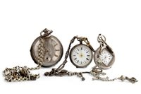 Lot 761-THREE POCKET WATCHES