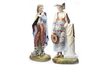 Lot 1245 - A PAIR OF CONTINENTAL FIGURES