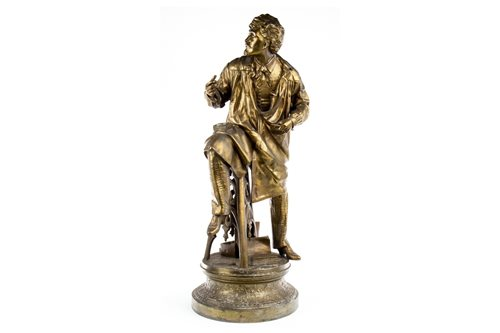 Lot 1665-A VICTORIAN GILDED SPELTER FIGURE