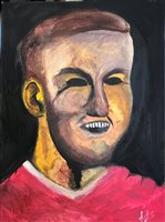 Lot 558-MEN UNITED, AN ACRYLIC BY ASHLEY STORRIE