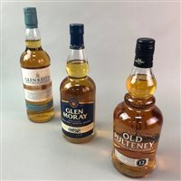 Lot 5-A LOT OF THREE BOTTLES OF MALT WHISKY, TASTING SET AND MICHAEL JACKSON'S MALT COMPANION