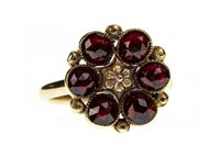 Lot 154-A RED GEM SET RING
