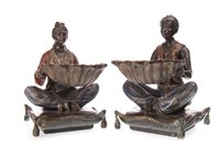 Lot 900-A PAIR OF 20TH CENTURY BRONZE FIGURES