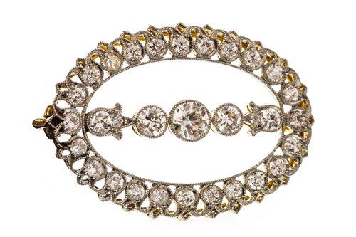 Lot 5-AN EDWARDIAN DIAMOND BROOCH