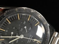 Lot 758-A GENTLEMAN' S OMEGA SPEEDMASTER STAINLESS WATCH