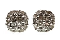 Lot 23-A PAIR OF DIAMOND CLUSTER EARRINGS