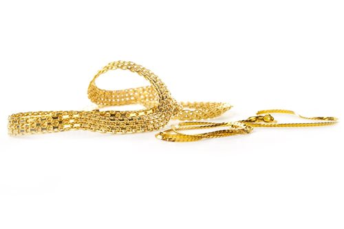 Lot 11-TWO CHAIN NECKLACES