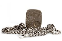 Lot 795-A LATE VICTORIAN WATCH CHAIN AND COIN CASE