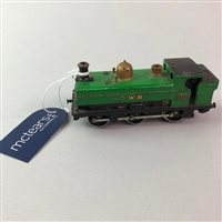 Lot 16-A VINTAGE DIECAST MODEL TRAIN ENGINE GWR 5700 WITH OTHER MODEL VEHICLES