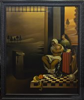 Lot 512-AFRAID OF BEING IDENTIFIED, AN OIL BY STUART MCALPINE MILLER