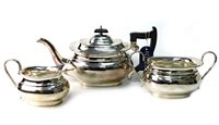 Lot 802-A GEORGE V SILVER TEA SERVICE