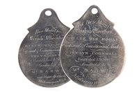 Lot 803-A LOT OF TWO VICTORIAN SILVER SCHOLASTIC MEDALS