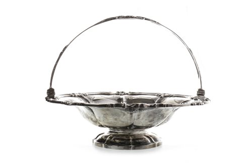 Lot 814-AN IMPRESSIVE WILLIAM IV SILVER FRUIT BASKET